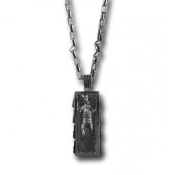 Colar de Prata Masculino Star Wars Han Solo no Carbonite