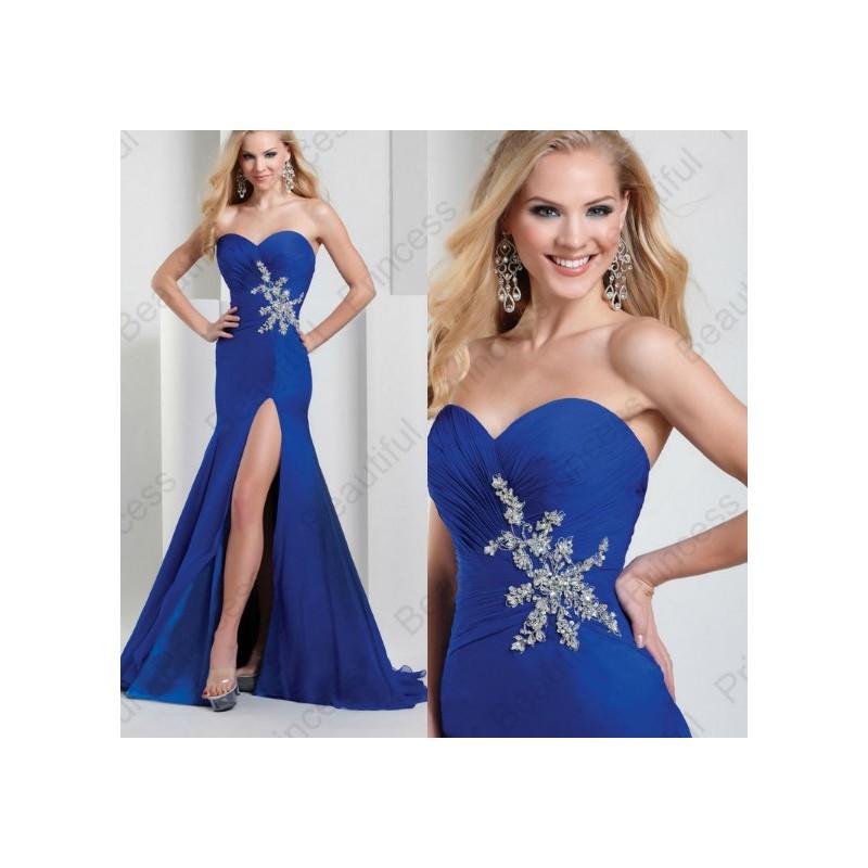 Vestido Fenda Festa Casamento Formatura Azul Sexy