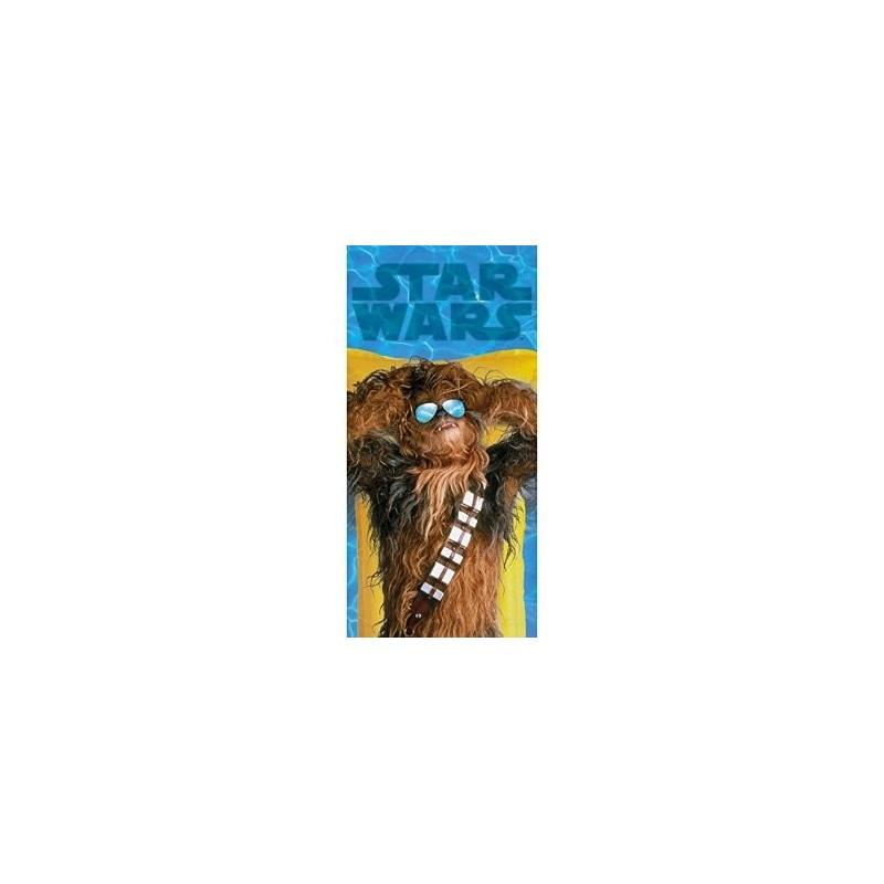 Toalha de Praia Star Wars Chewbacca na Piscina