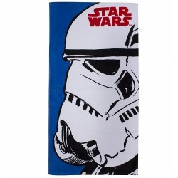 Toalha de Praia Star Wars Stormtrooper Azul e Branca