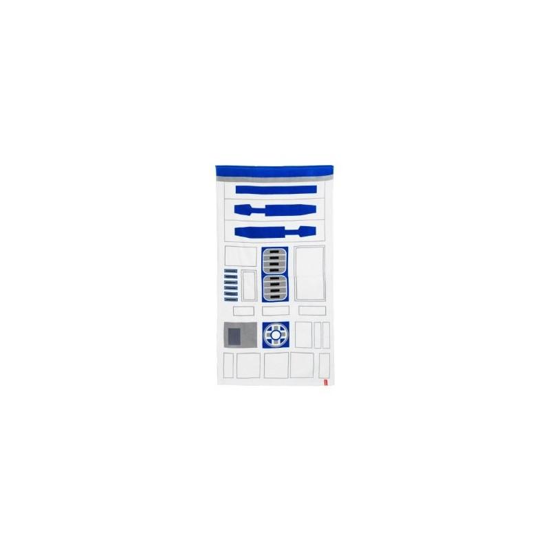Toalha de Praia Star Wars R2D2 Azul e Branca
