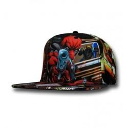 Boné Deadpool Estampado com Ilustrações Aba Reta Geek