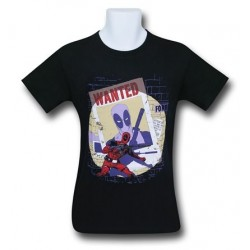 Camiseta Masculina Adulto Deadpool Wanted Preta