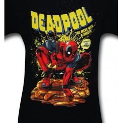 Camiseta Masculina Adulto Deadpool Preta