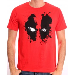 Camiseta Masculina Adulto Deadpool Marvel Vermelha
