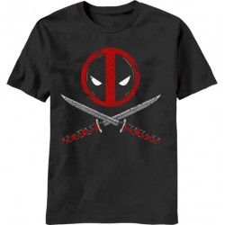 Camiseta Masculina Adulto Deadpool Marvel Grafite Armas Cruzadas