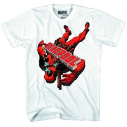 Camiseta Masculina Adulto Deadpool Marvel Branca
