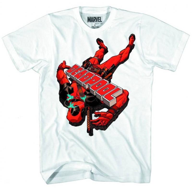 Camiseta Masculina Adulto Deadpool Marvel Branca