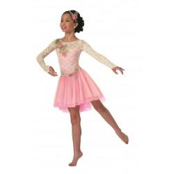 Fantasia Infantil Bailarina Meninas Rosa Carnaval Halloween Ballet