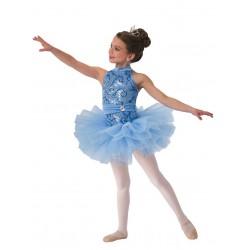 Fantasia Infantil Bailarina Meninas Azul Ballet Carnaval Halloween