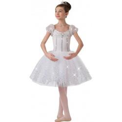 Fantasia Infantil Bailarina Meninas Branco Ballet Carnaval Halloween