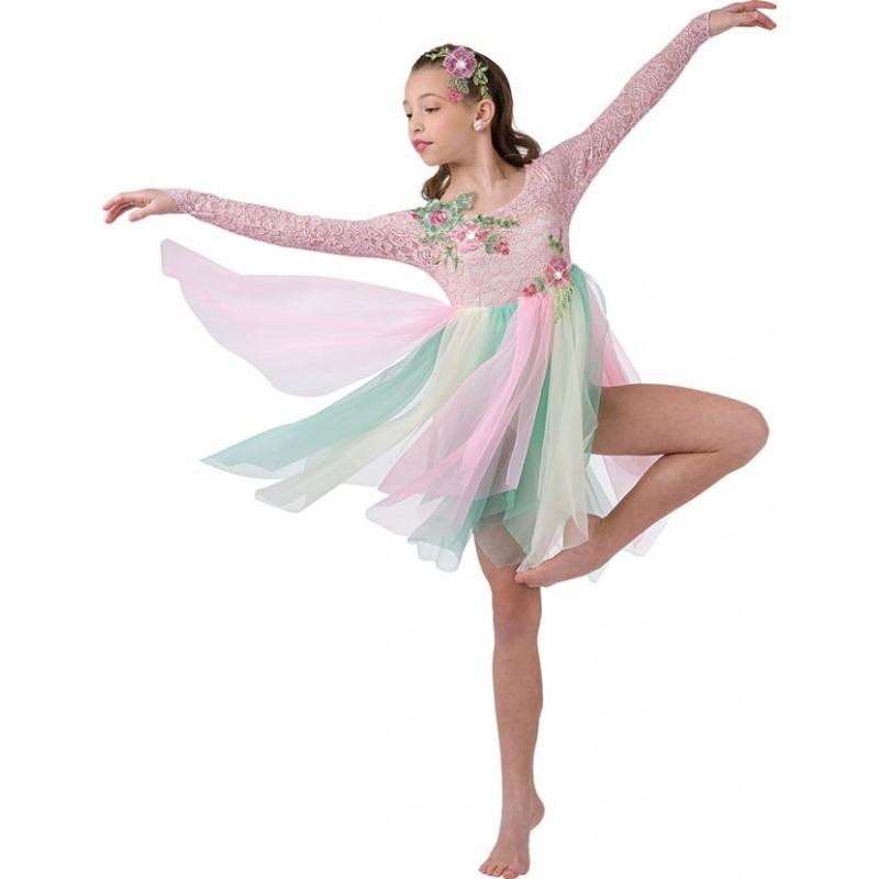 f54dbf4d50 Fantasia Infantil Bailarina Meninas Colorido Ballet Halloween Carnaval
