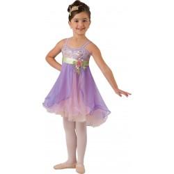 Fantasia Infantil Bailarina Roxo Lilás Dança Ballet Halloween Carnaval