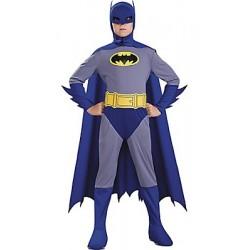 Fantasia Infantil Batman Azul Meninos Carnaval Halloween