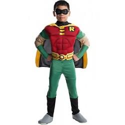 Fantasia Infantil Robin com Músculos Meninos Carnaval Halloween