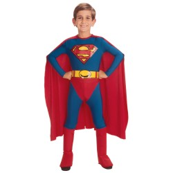 Fantasia Infantil Superman Clássica Meninos Halloween Carnaval