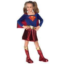 Fantasia Infantil SuperGirl Clássica Meninas Halloween Carnaval