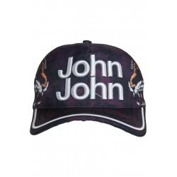 Boné John John Tigre Roxo Tiger Logo em relevo