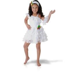 Fantasia Infantil Baianinha Meninas Halloween Carnaval