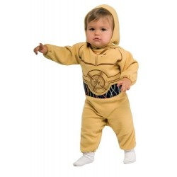 Fantasia Infantil Bebê C3PO Star Wars Macacão Halloween Carnaval