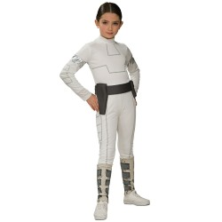 Fantasia Infantil Princesa Leia Star Wars Halloween Carnaval
