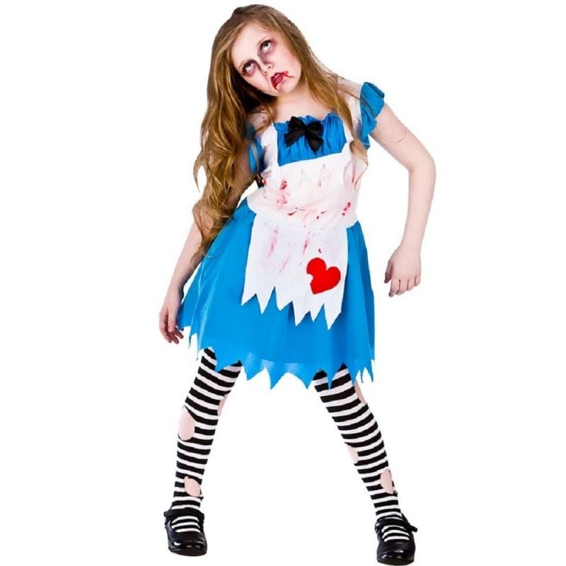 Fantasia Infantil Zumbi Dorothy Oz Halloween Carnaval