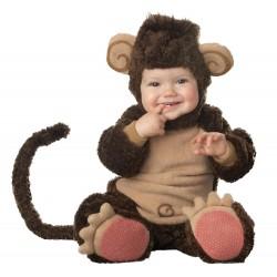 Fantasia Infantil Macaquinho para Bebês Halloween Carnaval