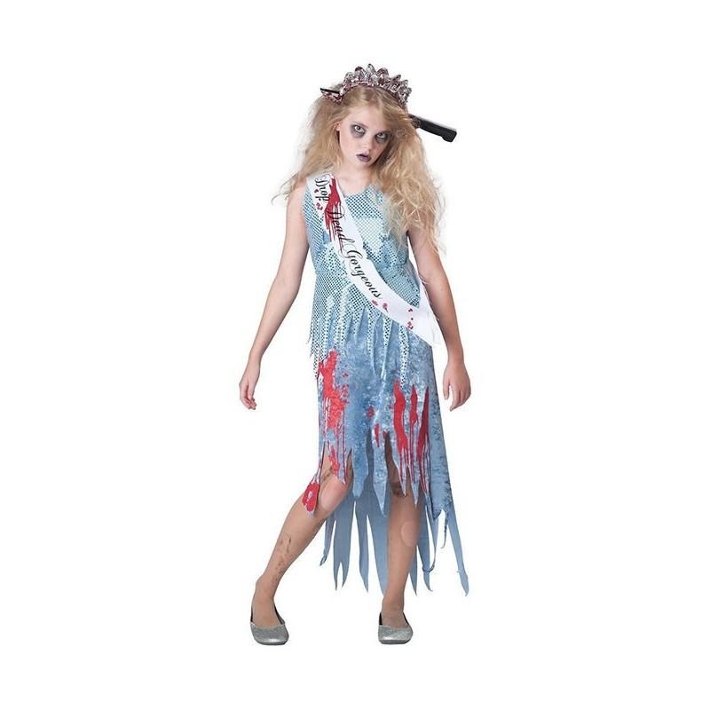Fantasia Infantil Miss Zumbi Halloween Carnaval
