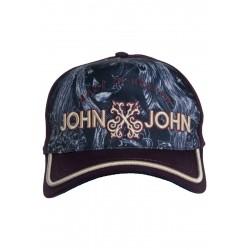 Boné John John Estampado Azul e Roxo logo em relevo