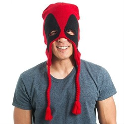 Gorro Touca Deadpool Marvel Vermelha e Preta