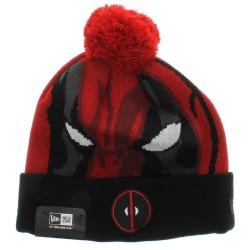 Gorro Touca Deadpool Marvel Pompom Vermelha e Preta