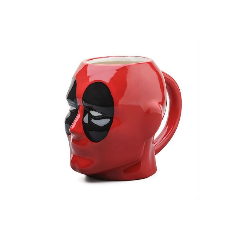 Caneca de Porcelana Deadpool Marvel Vermelha e Preta