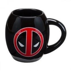 Caneca de Porcelana Deadpool Marvel Símbolo Preta