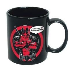 Caneca de Porcelana Deadpool Marvel Preta