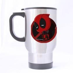 Caneca de Café Térmica Deadpool Marvel Branca