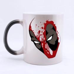 Caneca de Café Cerâmica Deadpool Marvel Branca