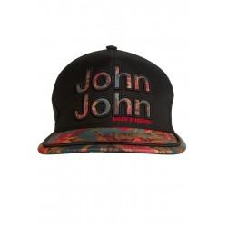 Boné John John Style Estampado e Preto logo em relevo