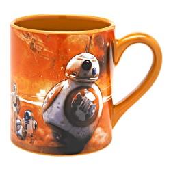 Caneca de Café Porcelana BB-8 Star Wars O Despertar da Força Laranja