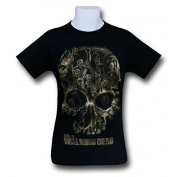 Camiseta Masculina The Walking Dead Caveira Zumbis Walkers