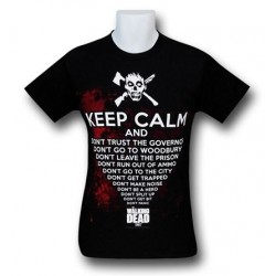 Camiseta Masculina Keep Calm The Walking Dead Preta