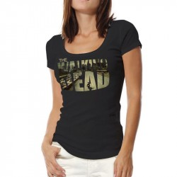 Camiseta Feminina Logo da Série The Walking Dead