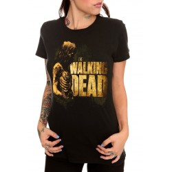 Camiseta Feminina Zumbie Logo da Série The Walking Dead