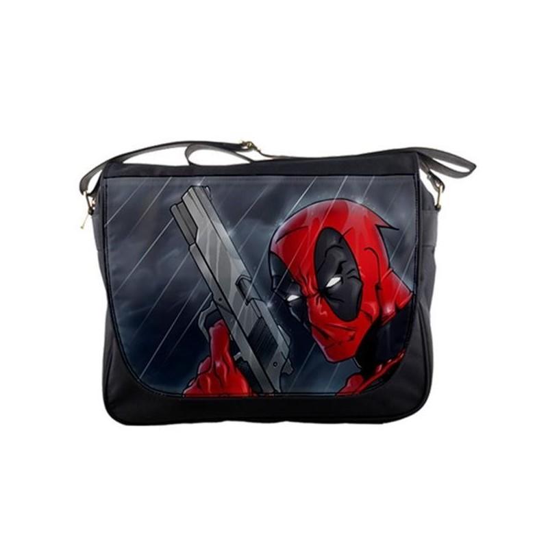 Bolsa Carteiro Deadpool Marvel Preta