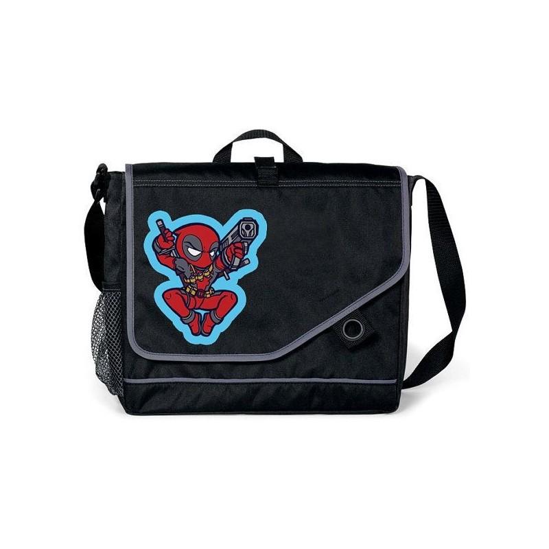 Bolsa Carteiro Deadpool Marvel Preta Infantil