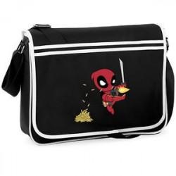 Bolsa Escolar Carteiro Deadpool Preta