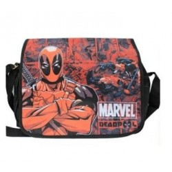 Bolsa Escolar Carteiro Deadpool Estampada