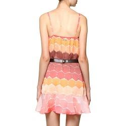 Vestido Curto Casual Puramania Estampado Coral - Marrom