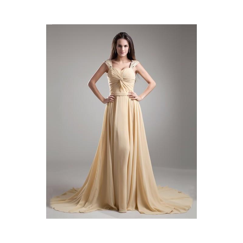 c629eb2643 Vestido Festa Chiffon Longo Nude Champagne Fluido