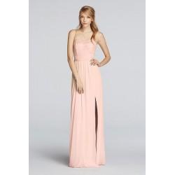 Vestido Longo Festa Rosa Nude Tomara que Caia