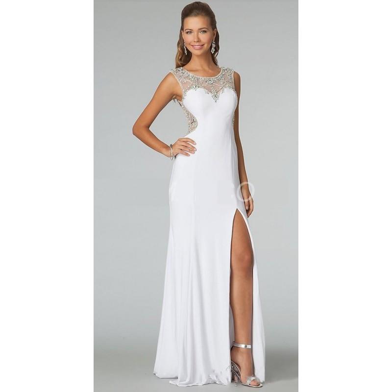 Vestido Longo Festa Branco Fenda Importado